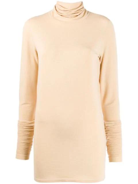 Lemaire Roll Neck Sweatshirt In Neutrals