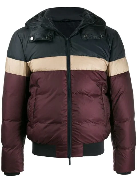 Emporio Armani Padded Hooded Jacket In Black