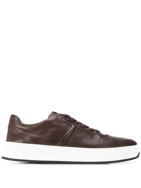Tod's Double Sole Sneakers In Brown