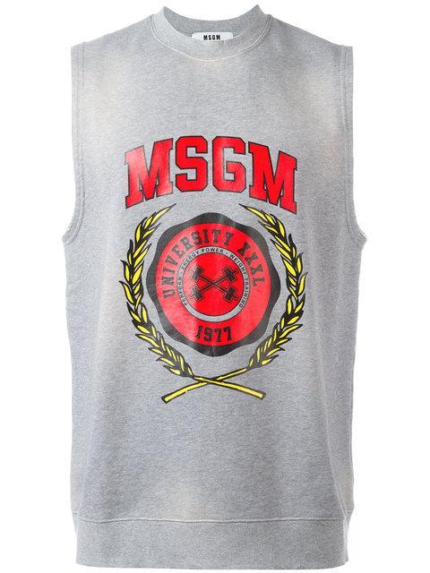 Msgm Shortsleeved Sweatshirt