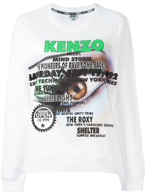 Kenzo Leather And Fur Coat In Blancbianco