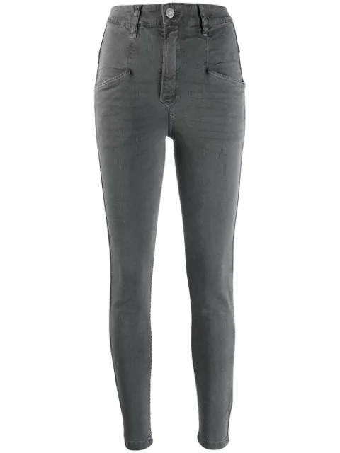 Isabel Marant Étoile Anthra Jeans In Grey