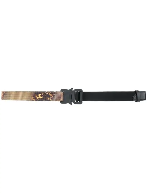 Alyx Double Trench Buckle Belt  In Camo Green