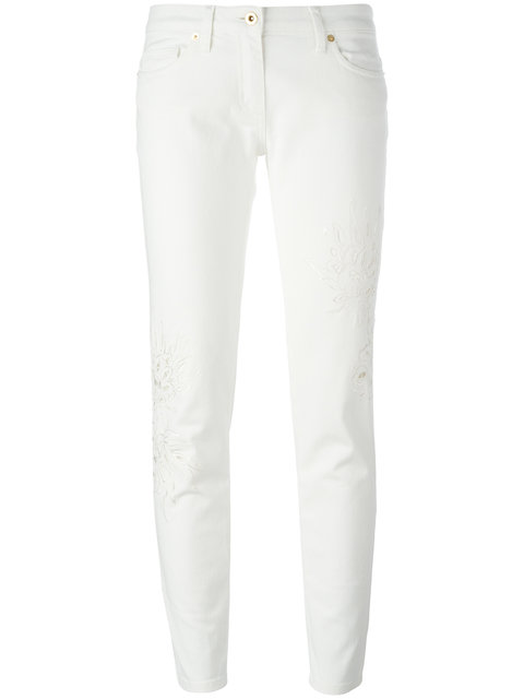 Blumarine Broderie Anglaise Trousers - White