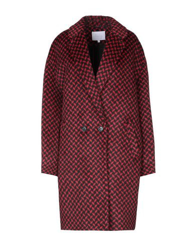 Lala Berlin Houndstooth Patterned Coat In Red