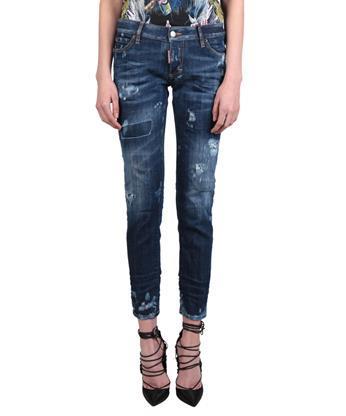 Dsquared2 Distressed Denim Jeans In Blue