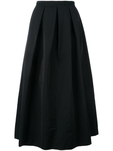 Rochas Pleated Skirt - Black
