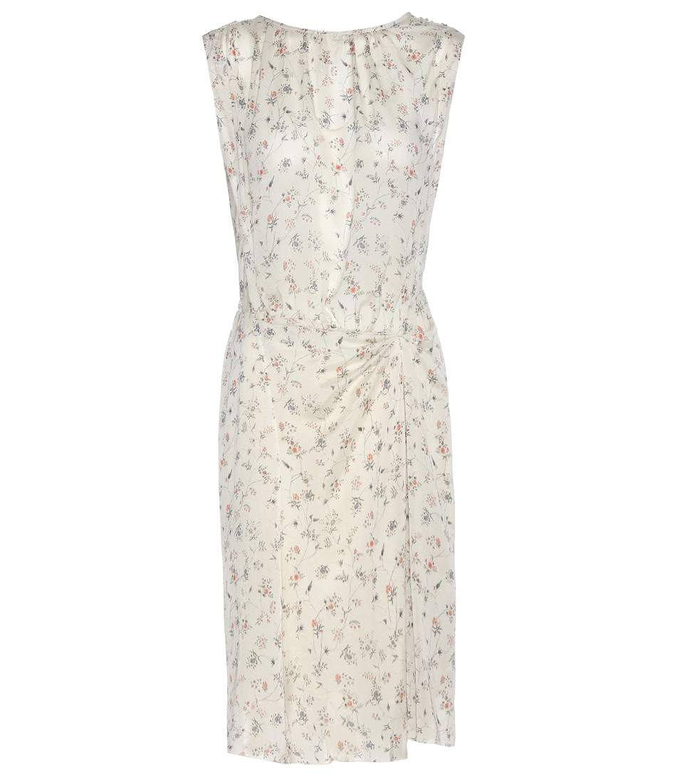 Isabel Marant Taos Floral Silk Dress In White