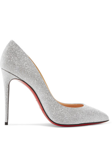 best sneakers 2a4db 8ea78 Pigalle Follies 100 Glitter-Embellished Pumps in Silver