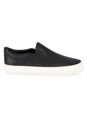 Vince Men's Fairfax Leather Slip-on Sneakers In Black