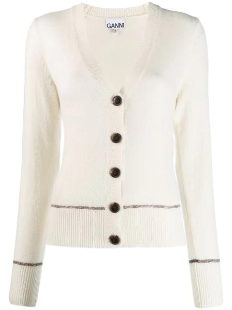 viele Stile exklusives Sortiment auf Füßen Bilder von Cardigan Mit V-Ausschnitt in White