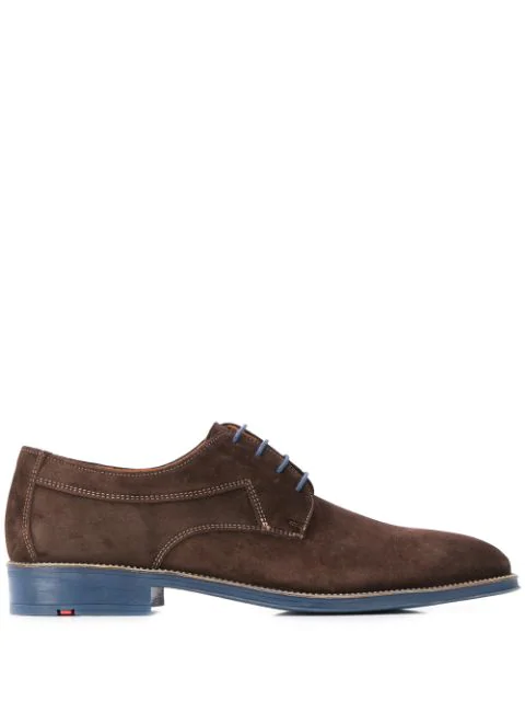 Lloyd Contrast Sole Derby Shoes In Brown