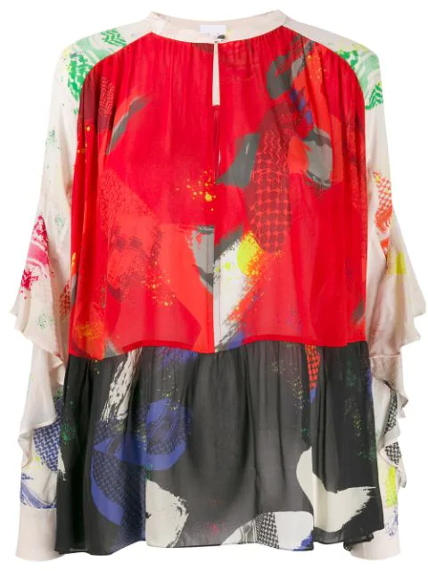 Lala Berlin Brush Stroke Tunic In Red
