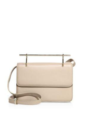 M2malletier La Fleur Du Mal Leather Crossbody Bag In Light Beige