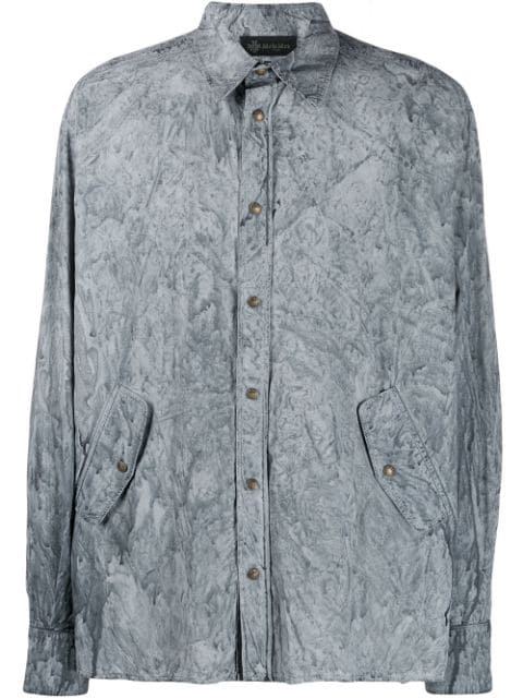 Mr & Mrs Italy Coated Shirt In Grey