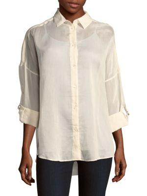 Iro Luchy Drop-shoulder Shirt In Ecru