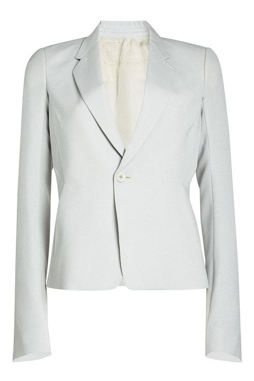 Rick Owens Woman Wool-blend Crepe Blazer Light Gray In Grey