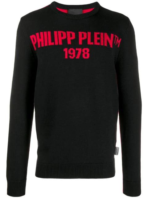 Philipp Plein Pp1978 Jumper In Black