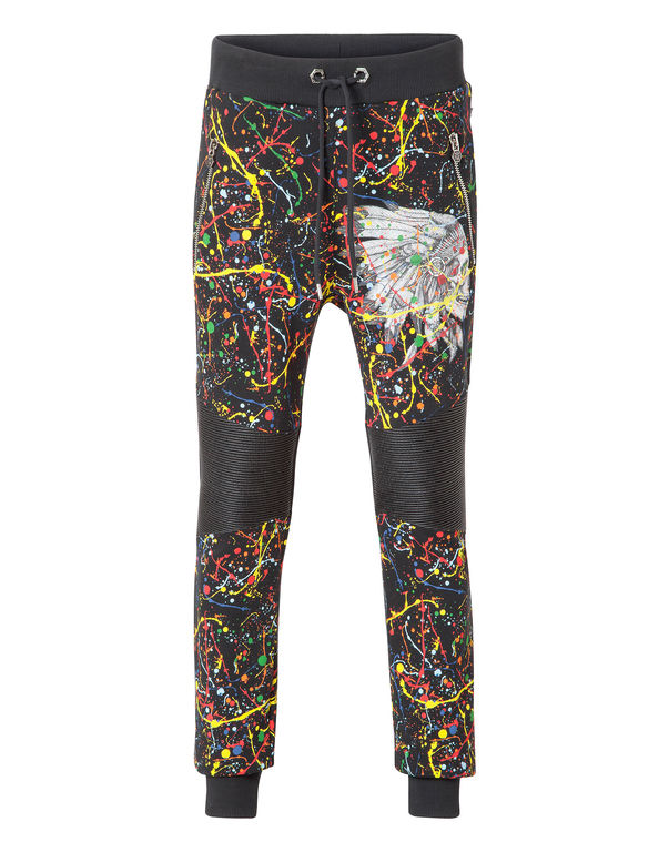 "Philipp Plein Jogging Trousers ""indian Way"" In Black"
