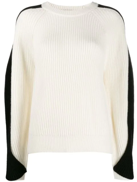 Lala Berlin Twisted Sleeve Sweater In White