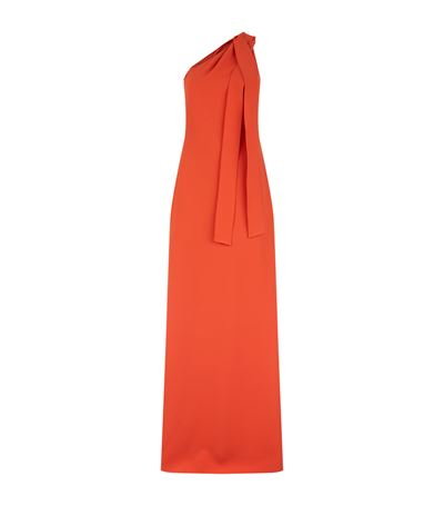 Boutique Moschino One-shoulder Long Dress In Rosso