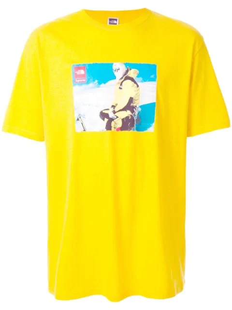 Supreme The North Face T-shirt In Yellow