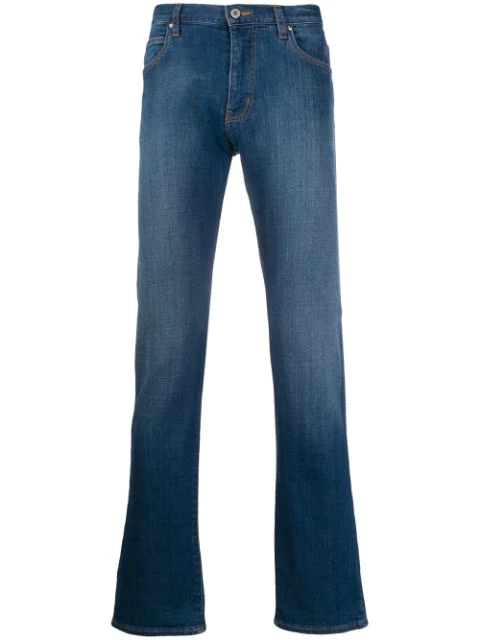 Emporio Armani Slim-fit Jeans In Blue