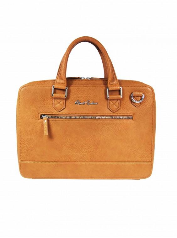 Robert Graham Men's Buster Briefcase In Cognac By