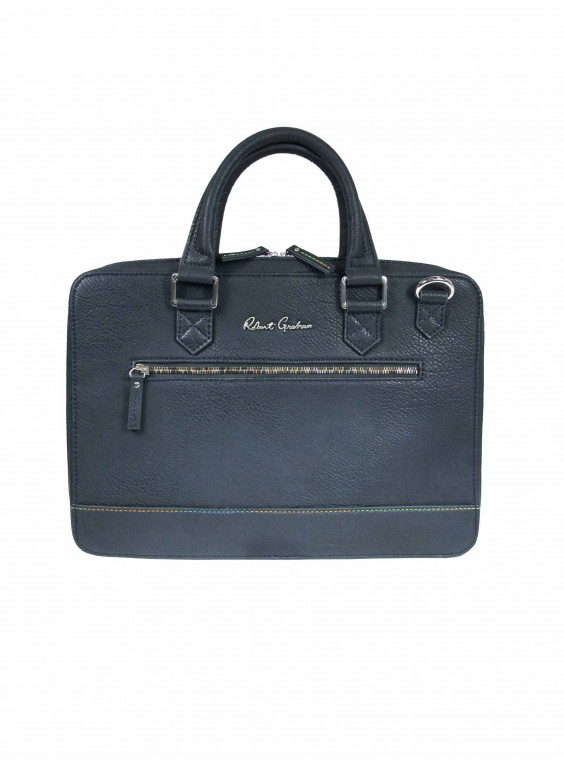 Robert Graham Men's Buster Briefcase In Navy By