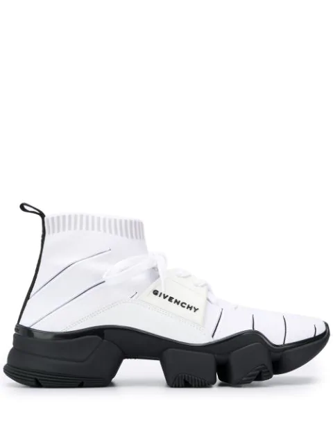 Givenchy Jaw High-Top Sock Trainers In White