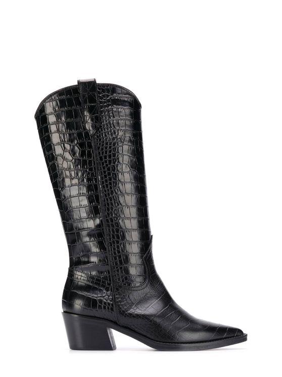 Via Roma 15 Ankle Boots Black Cocco