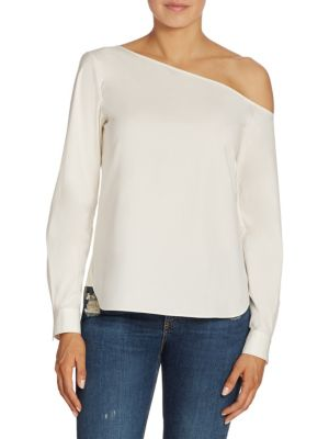 Theory Ulrika Stretch Cotton Shirt In White