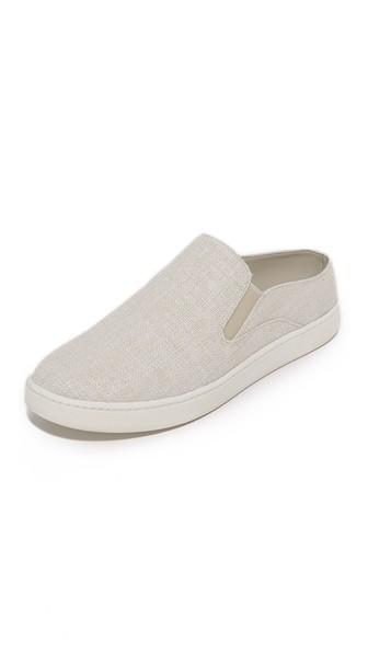 Vince Verrell Woven Backless Skate Sneakers In White