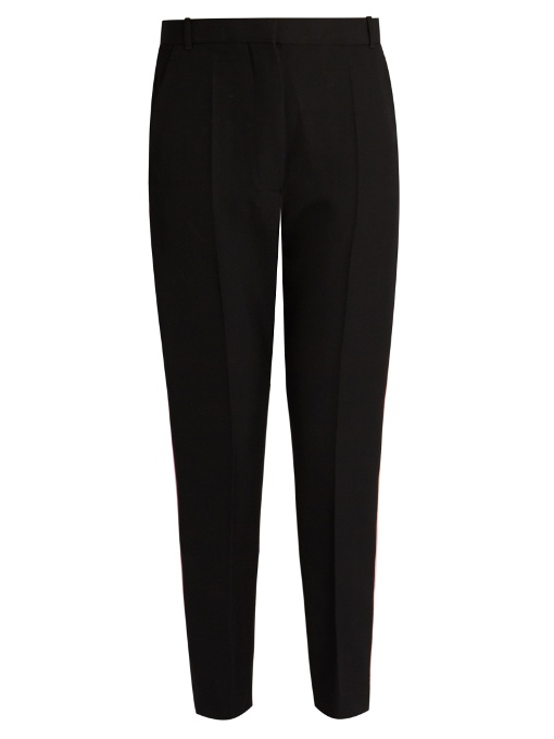 Haider Ackermann Orbai Slim-Leg Cropped Wool Trousers In Black Multi
