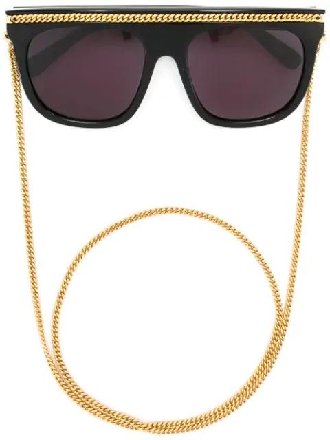 Stella Mccartney 'falabella' Oversized Sunglasses In Black
