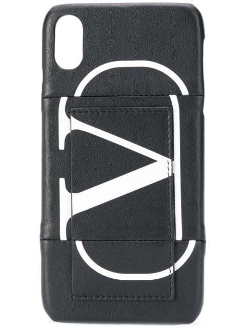 Valentino Garavani Vlogo Iphone X Case In Black