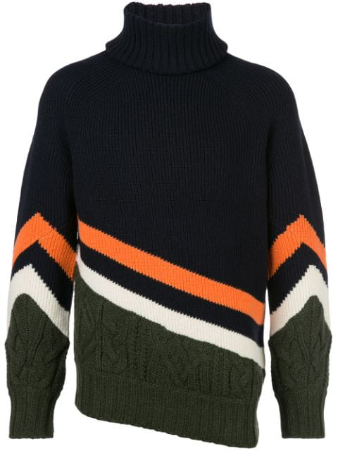 Sacai Oversized Panelled Jumper In 212