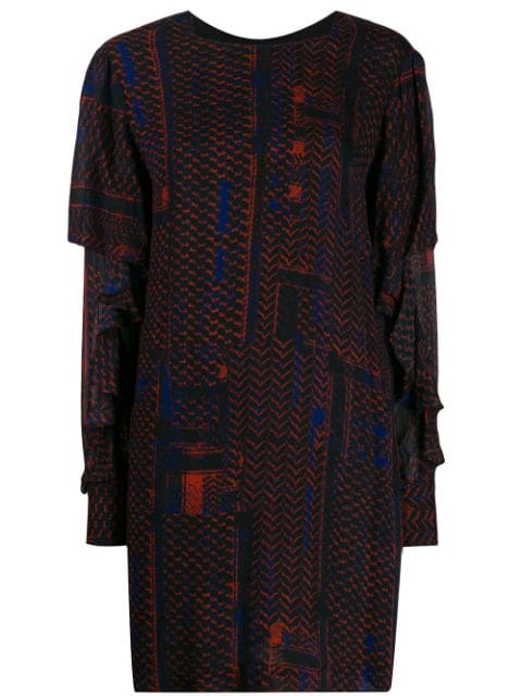 Lala Berlin Short Patterned Dress In Red