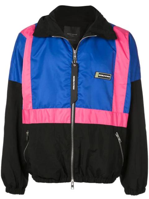 Daniel Patrick 2020 Nylon Track Jacket In Blue
