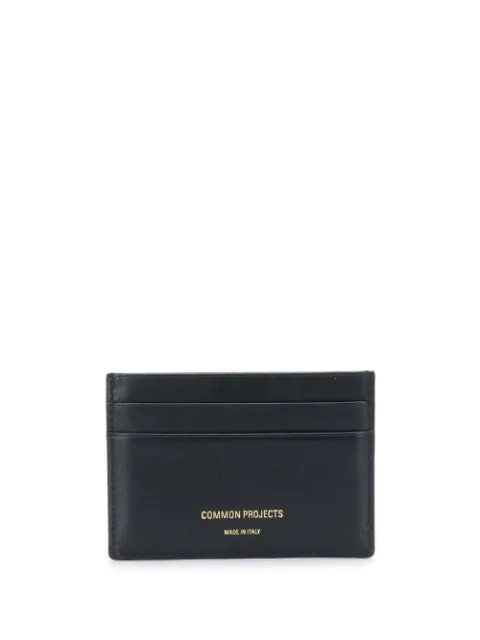 Common Projects Logo Stamped Cardholder In Black