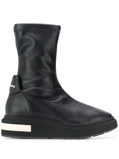 Paloma BarcelÓ Hybrid Ankle Boots In Black