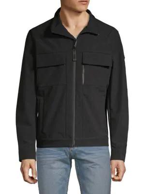 Michael Kors Soft Shell Jacket In Black