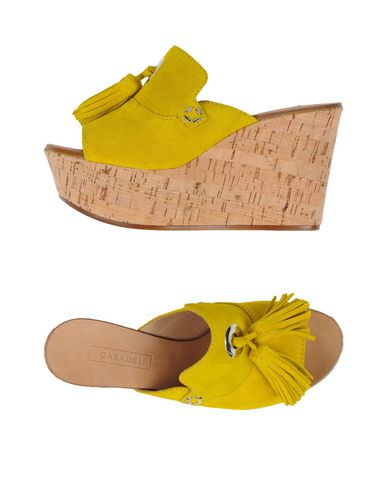 Casadei Sandals In Yellow