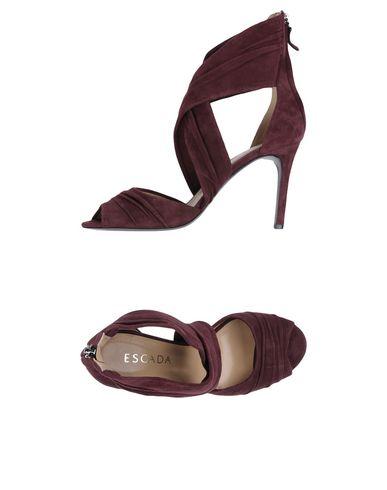 Escada Sandals In Deep Purple
