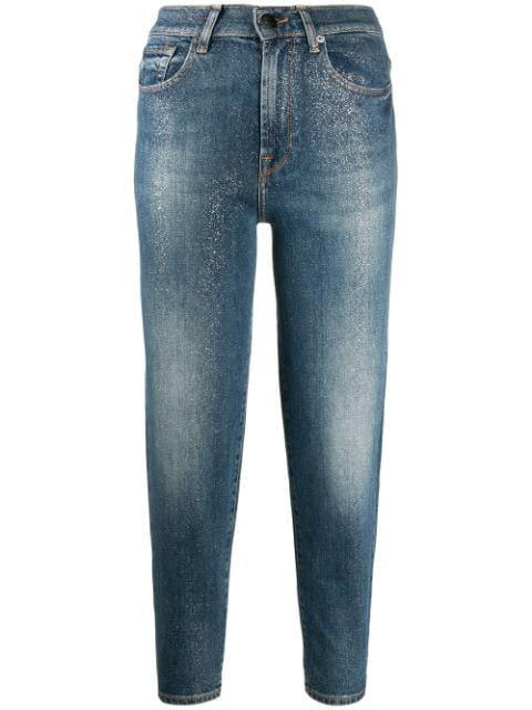 7 For All Mankind Skinny Fit Jeans In Blue