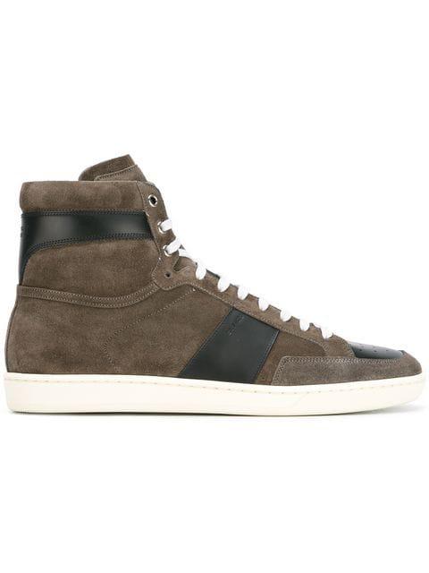adb6e454ba Tan Suede Sl/10H Court Classic High-Top Sneakers in Brown