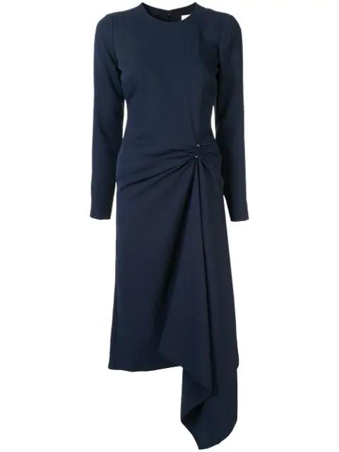 Dion Lee Pierced Midi Dress In Ink