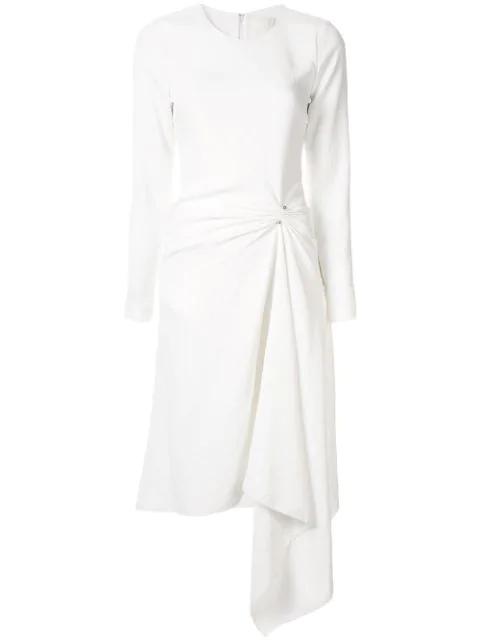 Dion Lee Pierced Midi Dress In Ivory