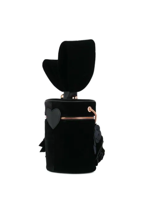 Sophia Webster Flower Shoulder Bag In Black