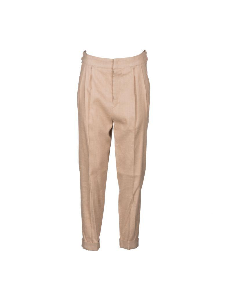 Isabel Marant Tailored Straight Fit Trousers In Beige-rose